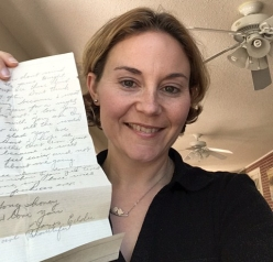 One of the letters that inspired Tethered Through Time, written by Edward to Lucille shortly before the war.